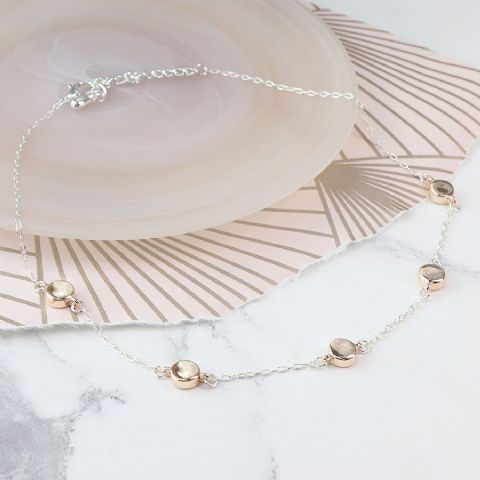 ROSE GOLD DISC & CHAIN NECKLACE